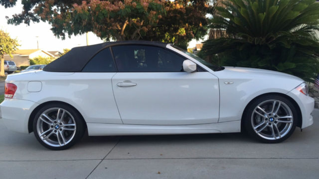 2012 BMW 1-Series (White/Corral Red)