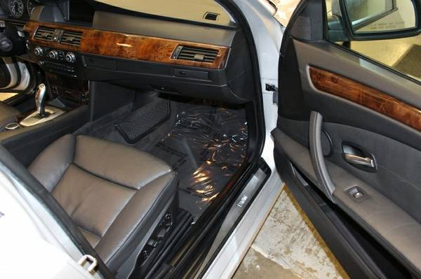 2008 BMW 5 Series Silver Black