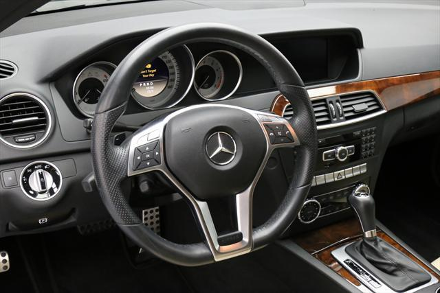 2012 Mercedes-Benz C-Class (Burgundy/Tan)
