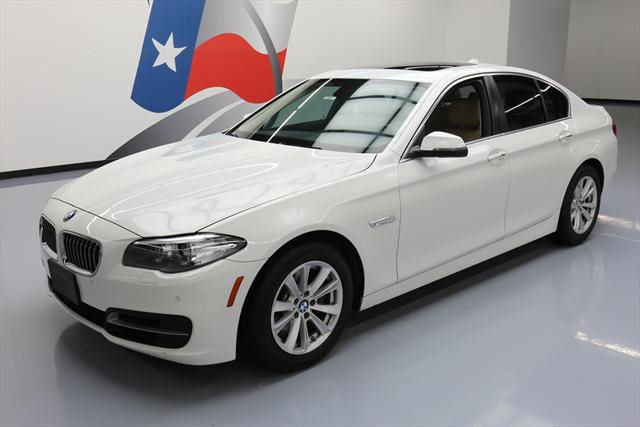 2014 BMW 5-Series (White/Tan)