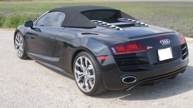 2011 Audi R8 (Custom metallic midnight blue/Black, white seats, white stitching, carbon fiber)