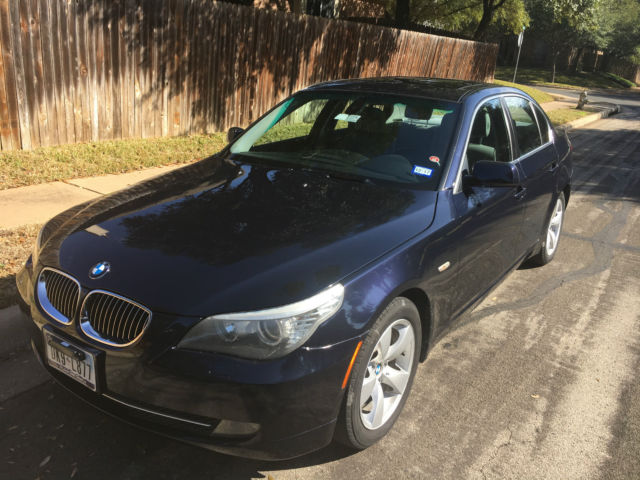 2008 BMW 5-Series (Blue/Gray)