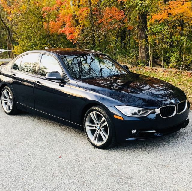 2014 BMW 3-Series (Imperial Blue Metallic (navy)/Black Leather With Red Stitching)