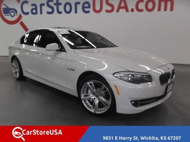 2012 BMW 5-Series (White/Beige)