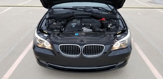 2010 BMW 5-Series (Black/White)