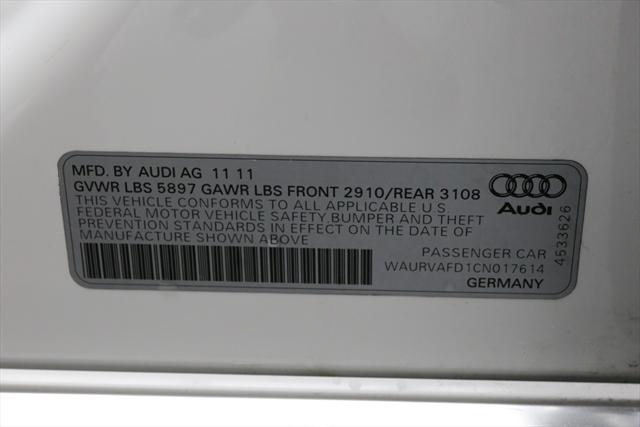 2012 Audi A8 (White/Brown)