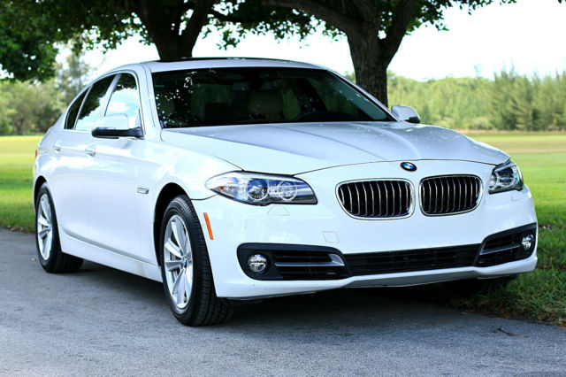 2015 BMW 5-Series (White/Tan)