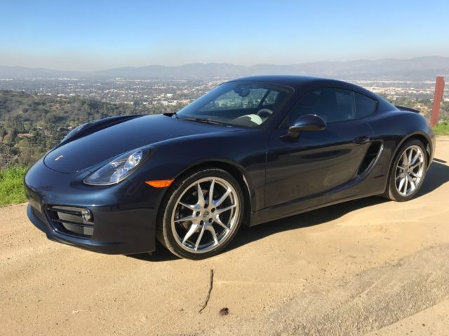 2014 Porsche Cayman (Dark Blue Metallic/Leather Package, Agate Grey/Pebble Grey)