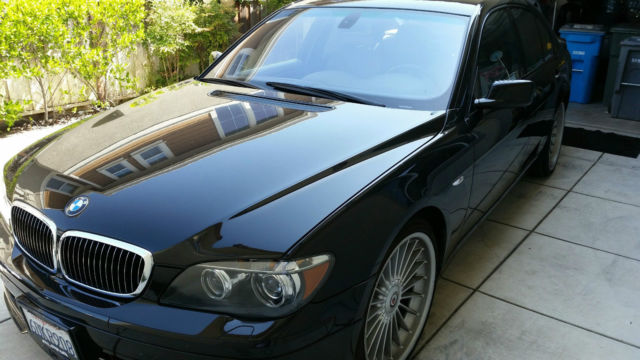 2008 BMW 7-Series (Black/Red)