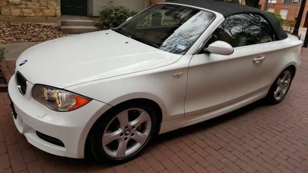 2008 BMW 1 Series White Tan