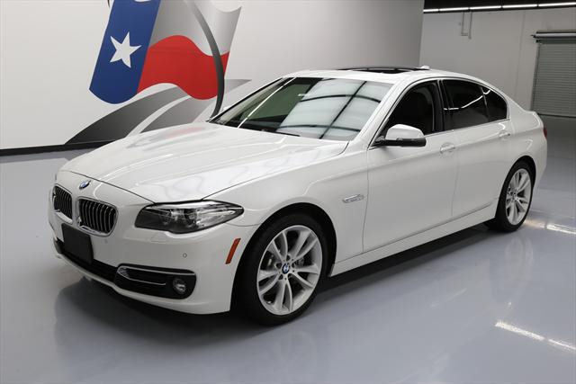 2015 BMW 5-Series (White/Brown)