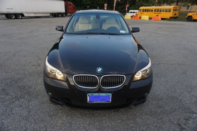 2008 BMW 5-Series (Carbon Black Metallic/Cream Beige)