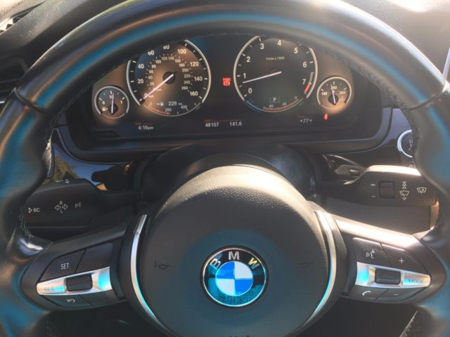 2014 BMW 5-Series (Carbon Black Metallic/Leather Dakota Black)