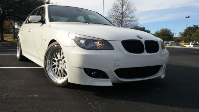 2008 BMW 5-Series (White/Black)