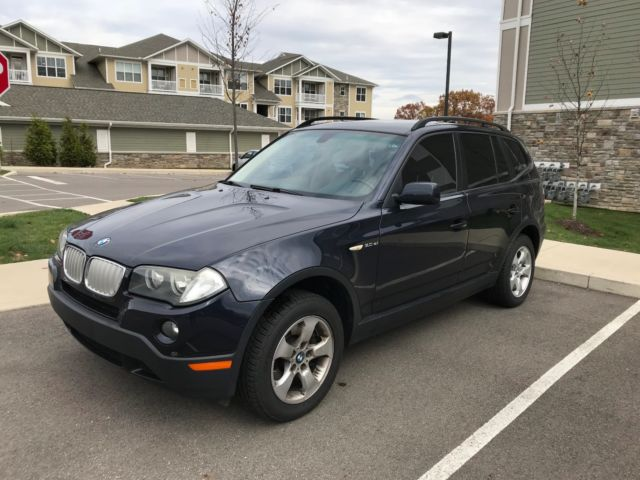 2007 BMW X3 (Blue/Beige)