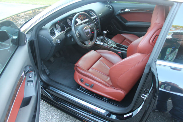 2008 Audi S5 (Black/Tuscan Brown)