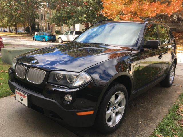 2008 BMW X3 (Black/Tan)