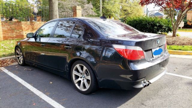 2007 BMW 5-Series (Black/Tan)