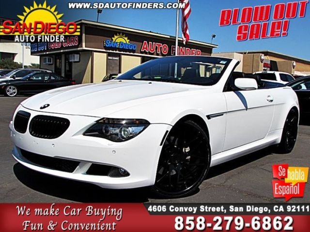 2009 BMW 650i - Conv - jst gorgeous - (White/Black)