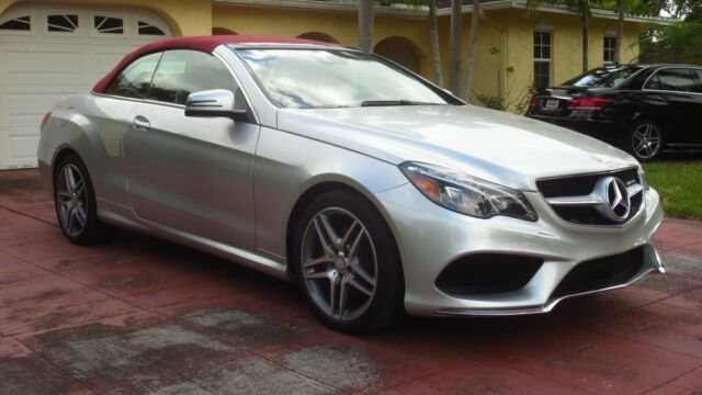 2016 Mercedes-Benz E-Class (Bright Silver Mettalic/Red)