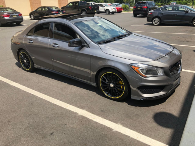 2014 Mercedes-Benz CLA-Class (Gray/Black with Custom Edition 1 Yellow Racing Stripe Interior)