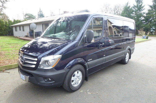 2015 Mercedes-Benz Sprinter (Canvasite Metallic Blue with Custom Pin-striping/Grey - Black Combination)