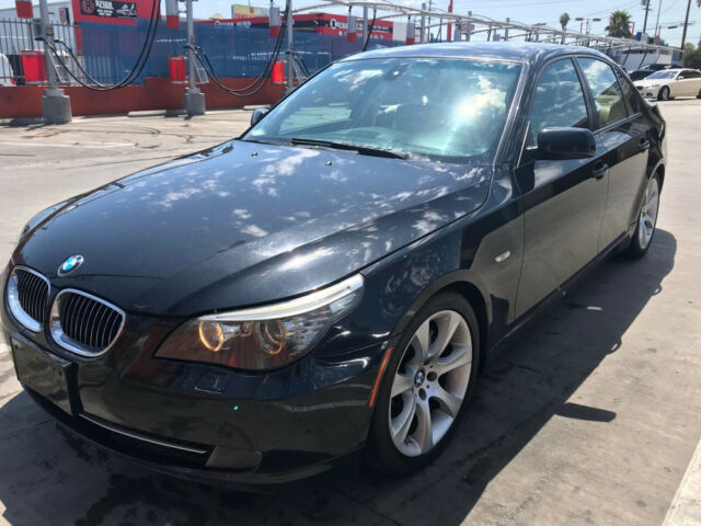 2008 BMW 5-Series (Black/Beige)
