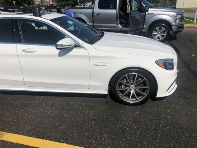 2018 Mercedes-Benz C63 AMG (White/Black)